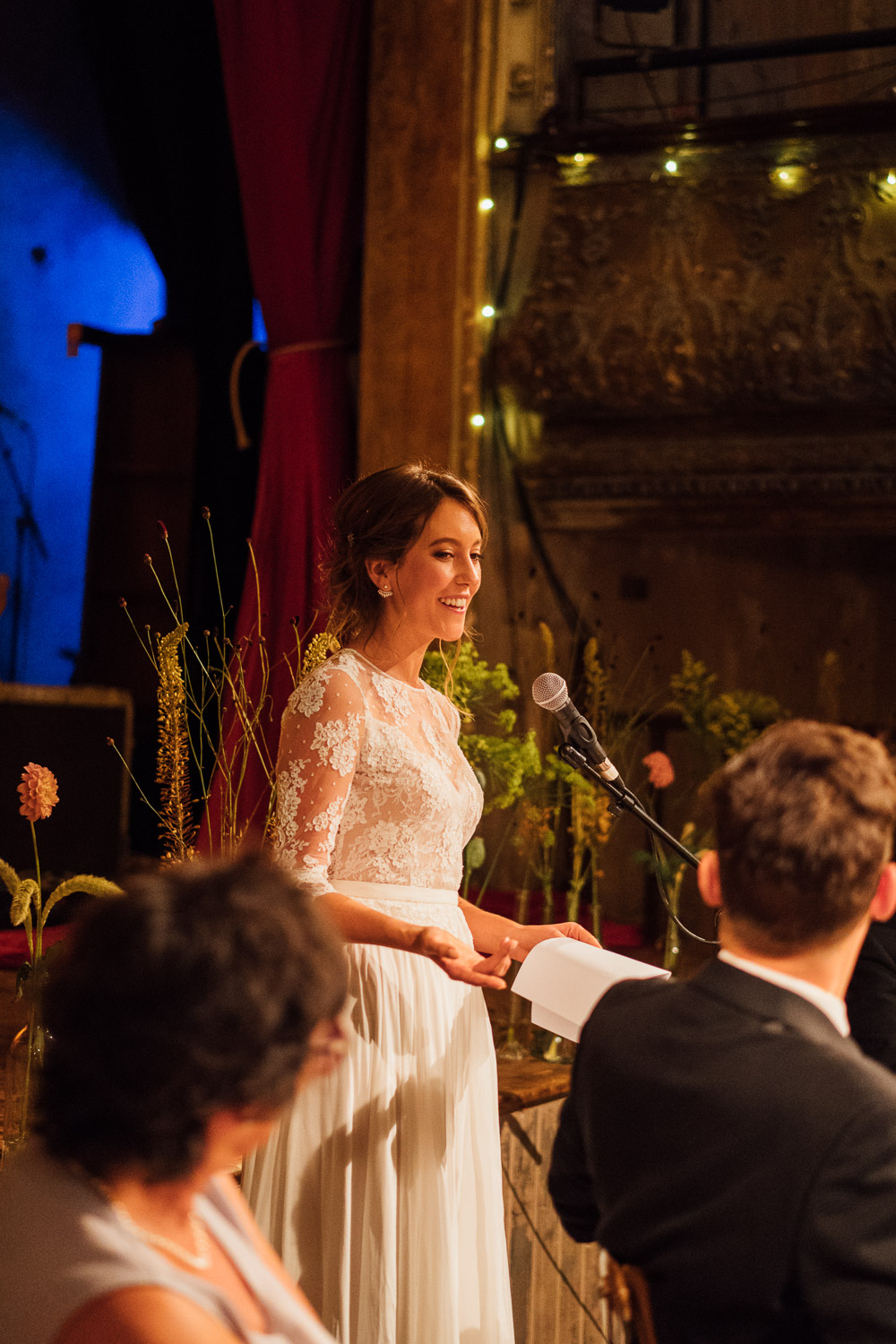 bridal speech in wiltons music hall wedding by london wedding photographer the shannons photography