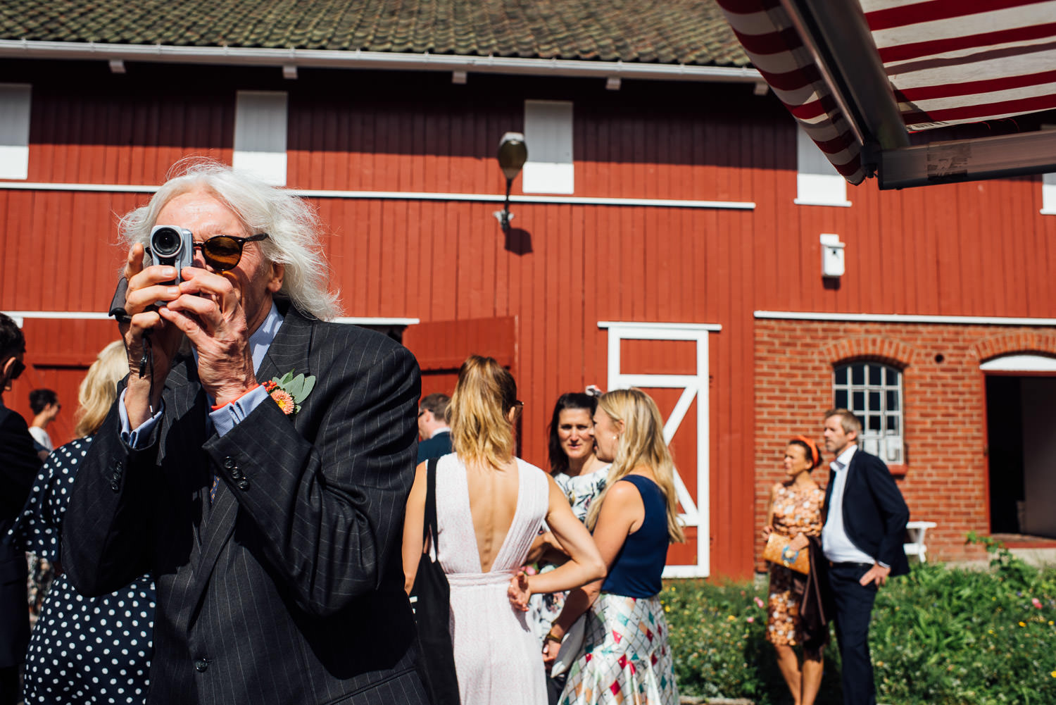 Bohemian wedding in Norwegian Barn Wedding by norway destination wedding photographer the shannons photography