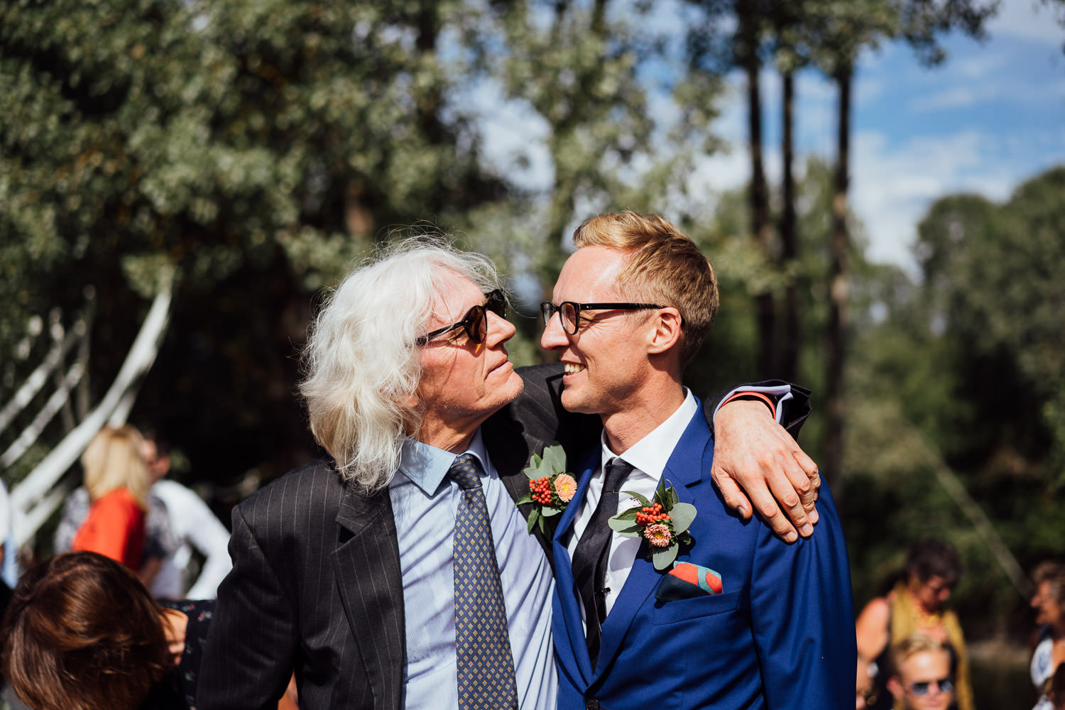 Father of the groom in Norwegian Barn Wedding by norway destination wedding photographer the shannons photography