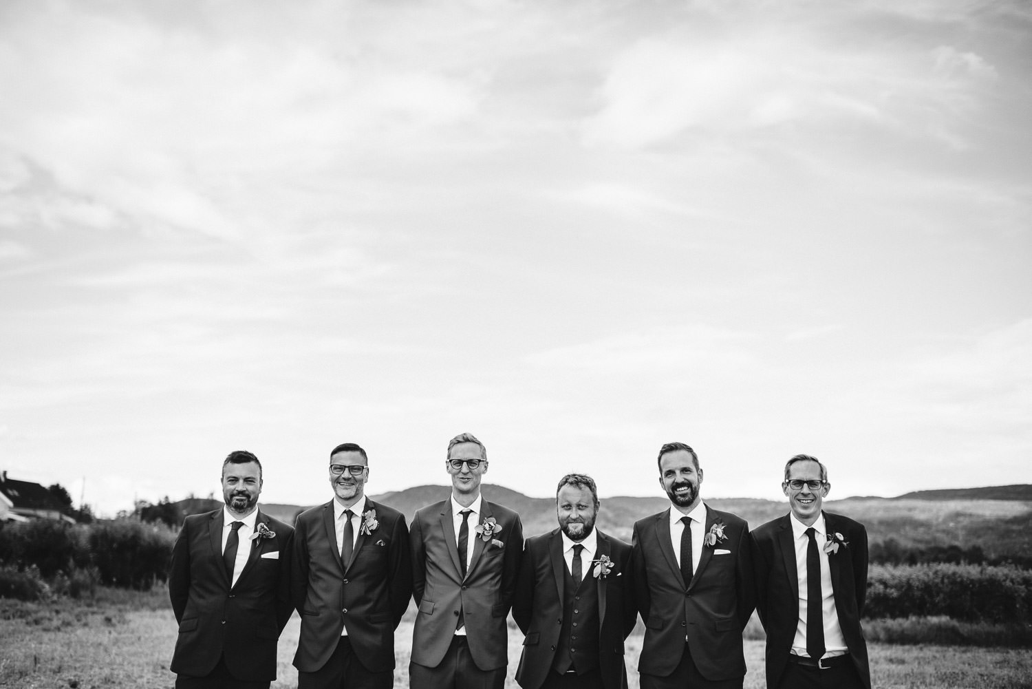 groomsmen wedding pictures in Norwegian Barn Wedding by norway destination wedding photographer the shannons photography