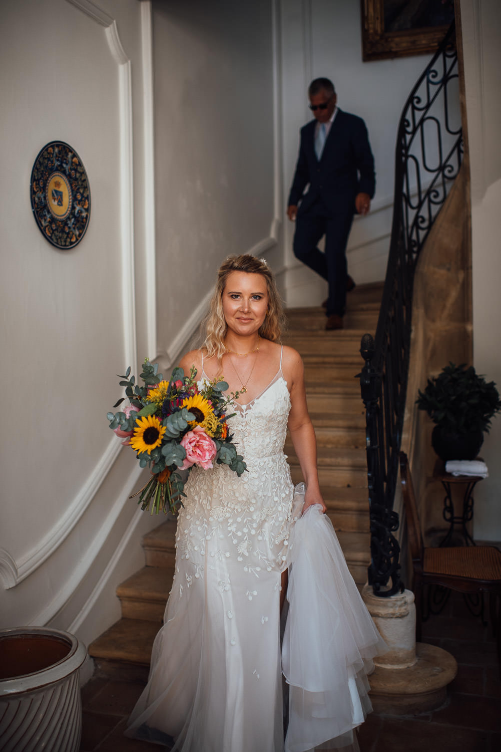 alternative bride in chateau de lacoste wedding