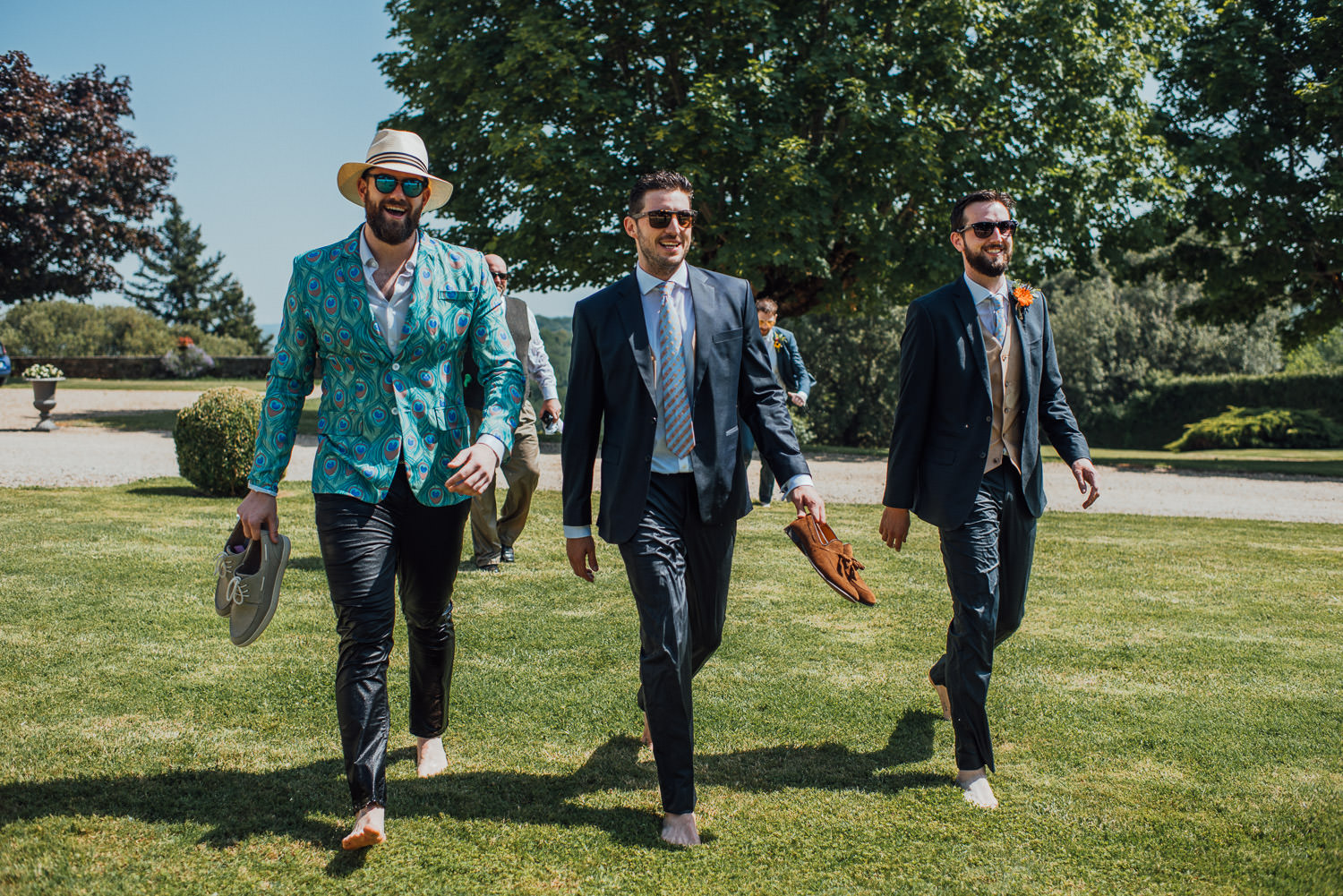 groomsmen in chateau de lacoste wedding