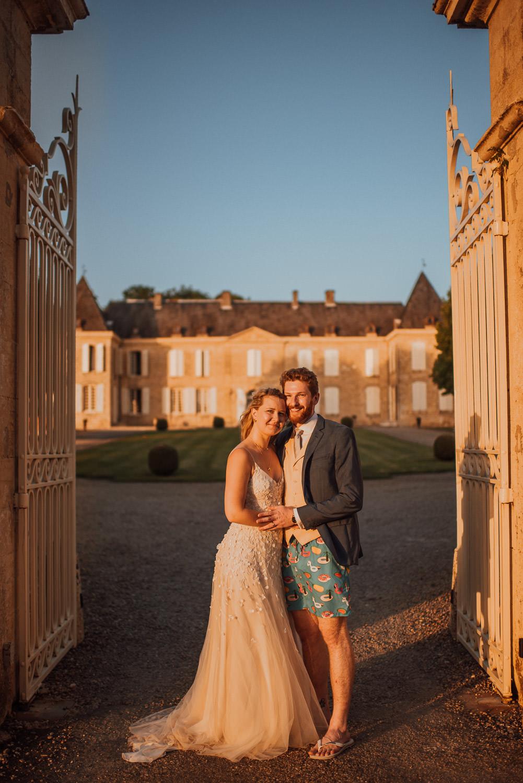 chateau de lacoste wedding party