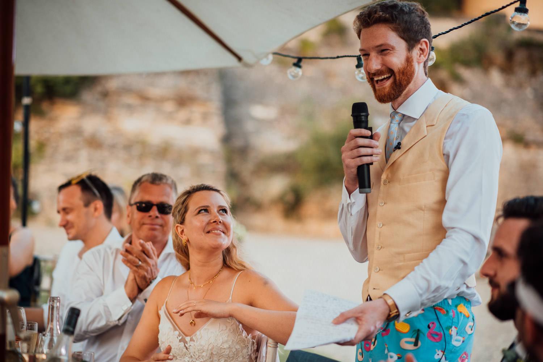 groom speech in chateau de lacoste wedding