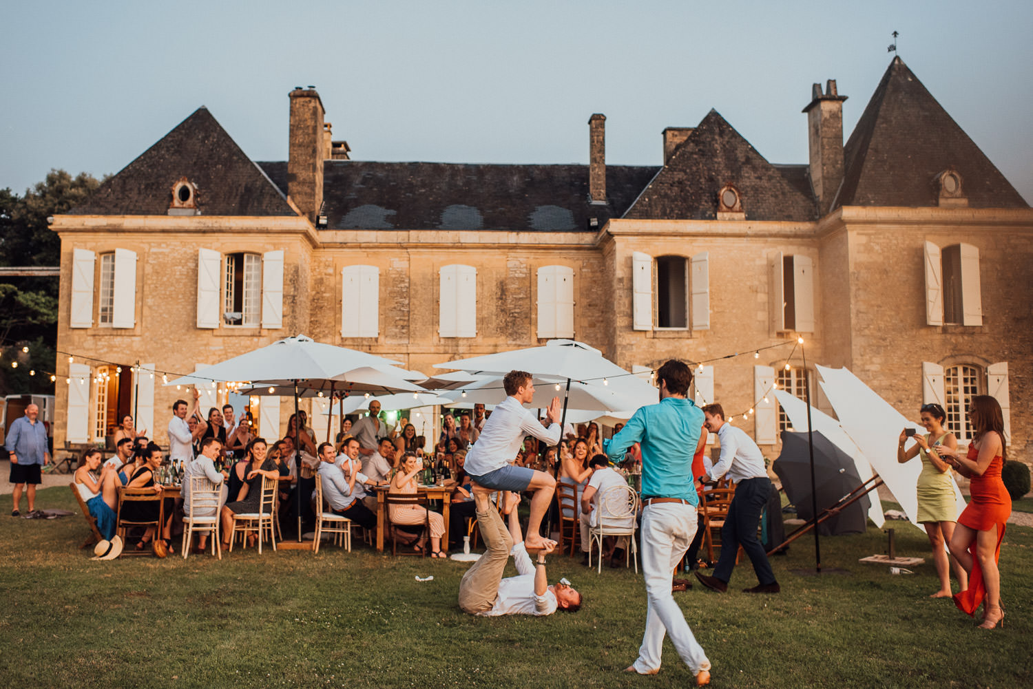 wedding reception in chateau de lacoste wedding