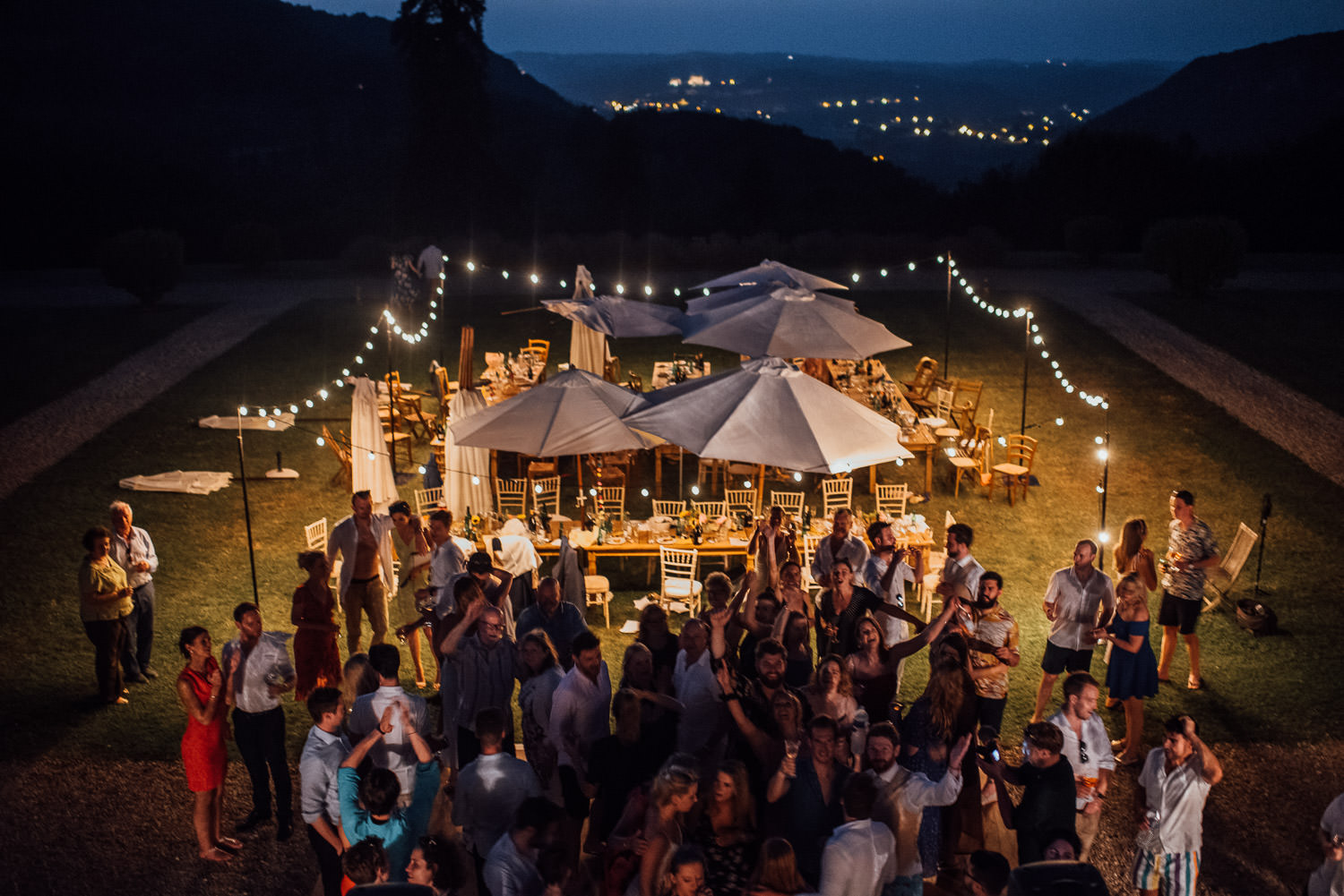 Dancing at Chateau de Lacoste Wedding