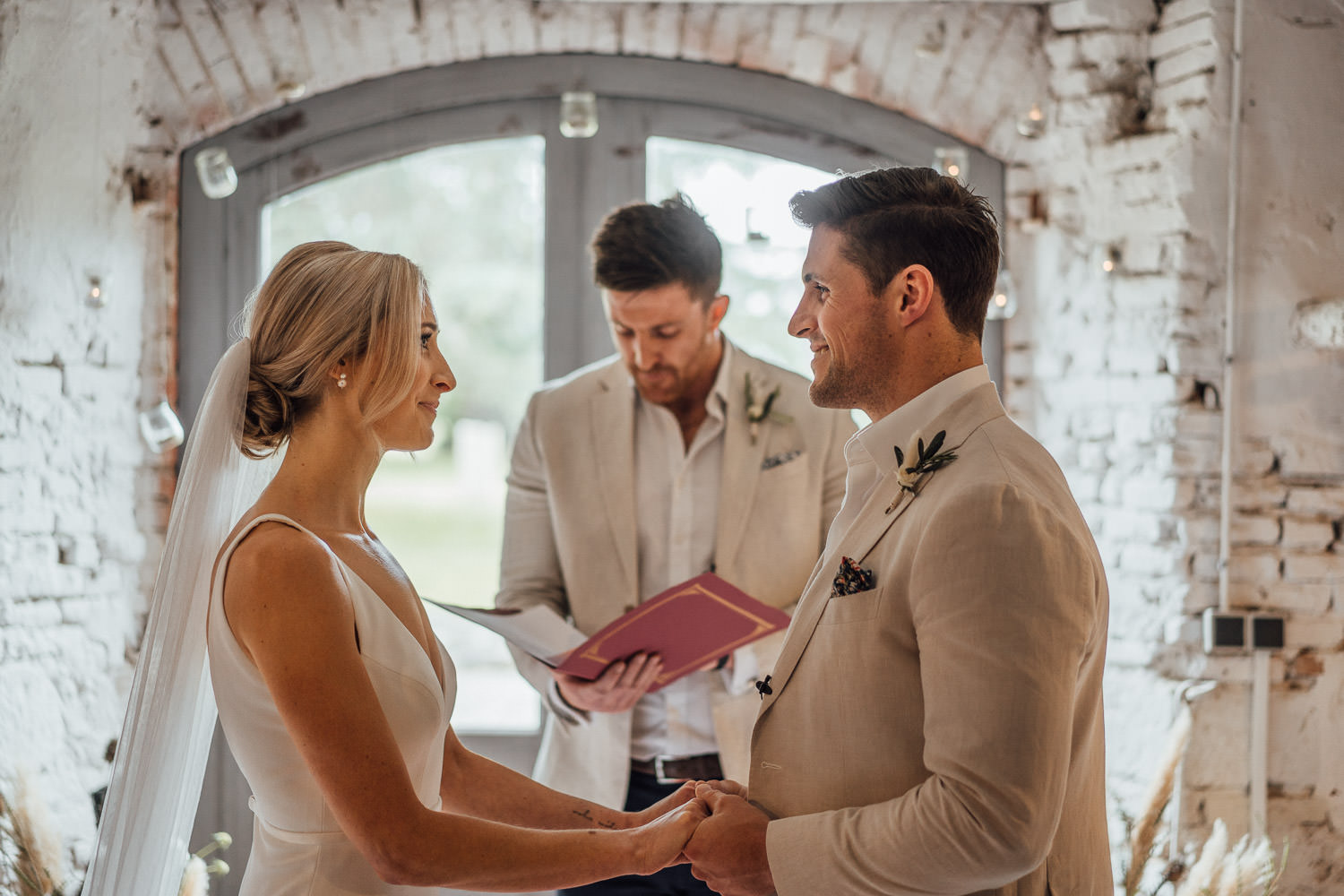 indoor wedding ceremony in Domaine du Beyssac Wedding