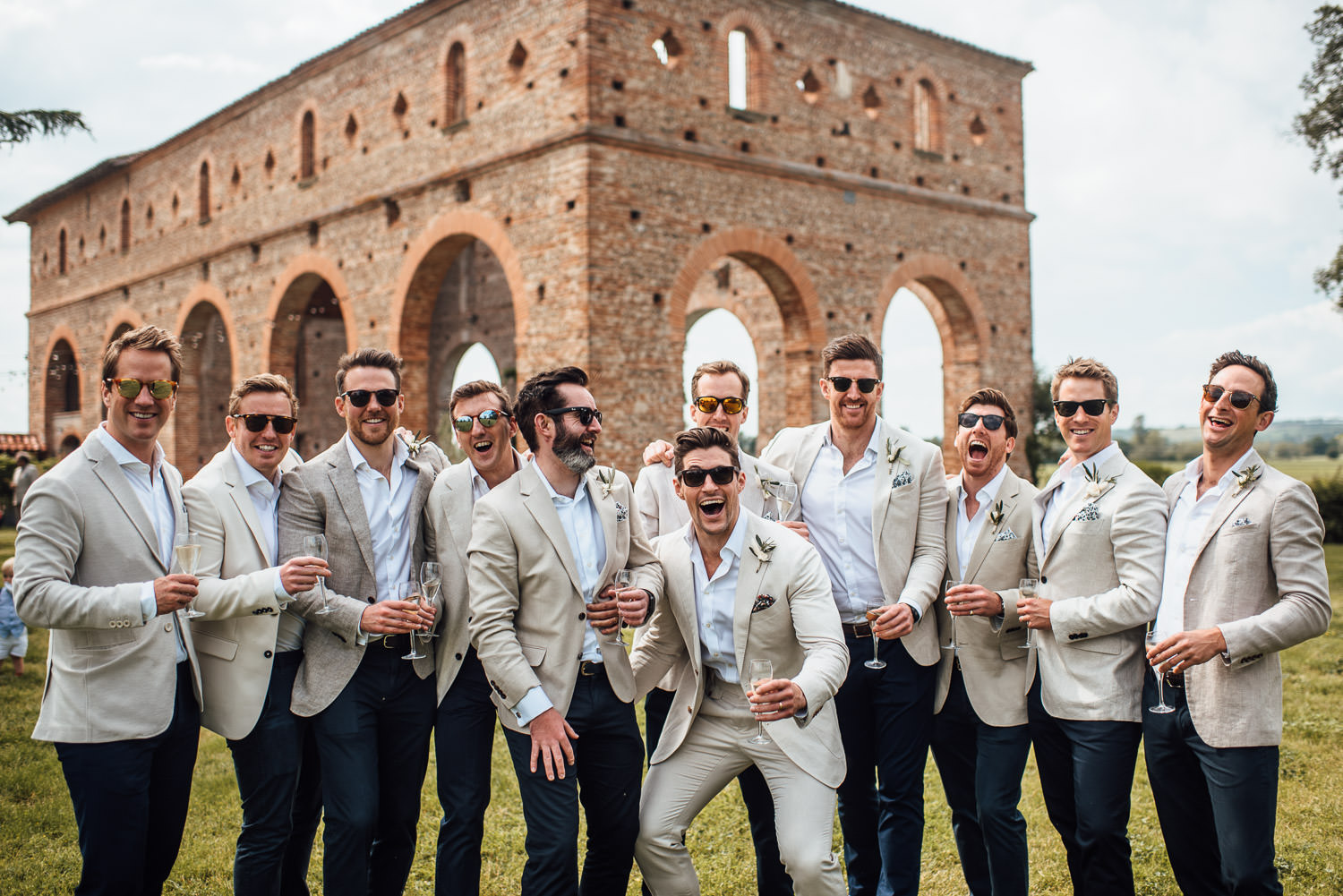 groomsmen in Domaine du Beyssac Wedding