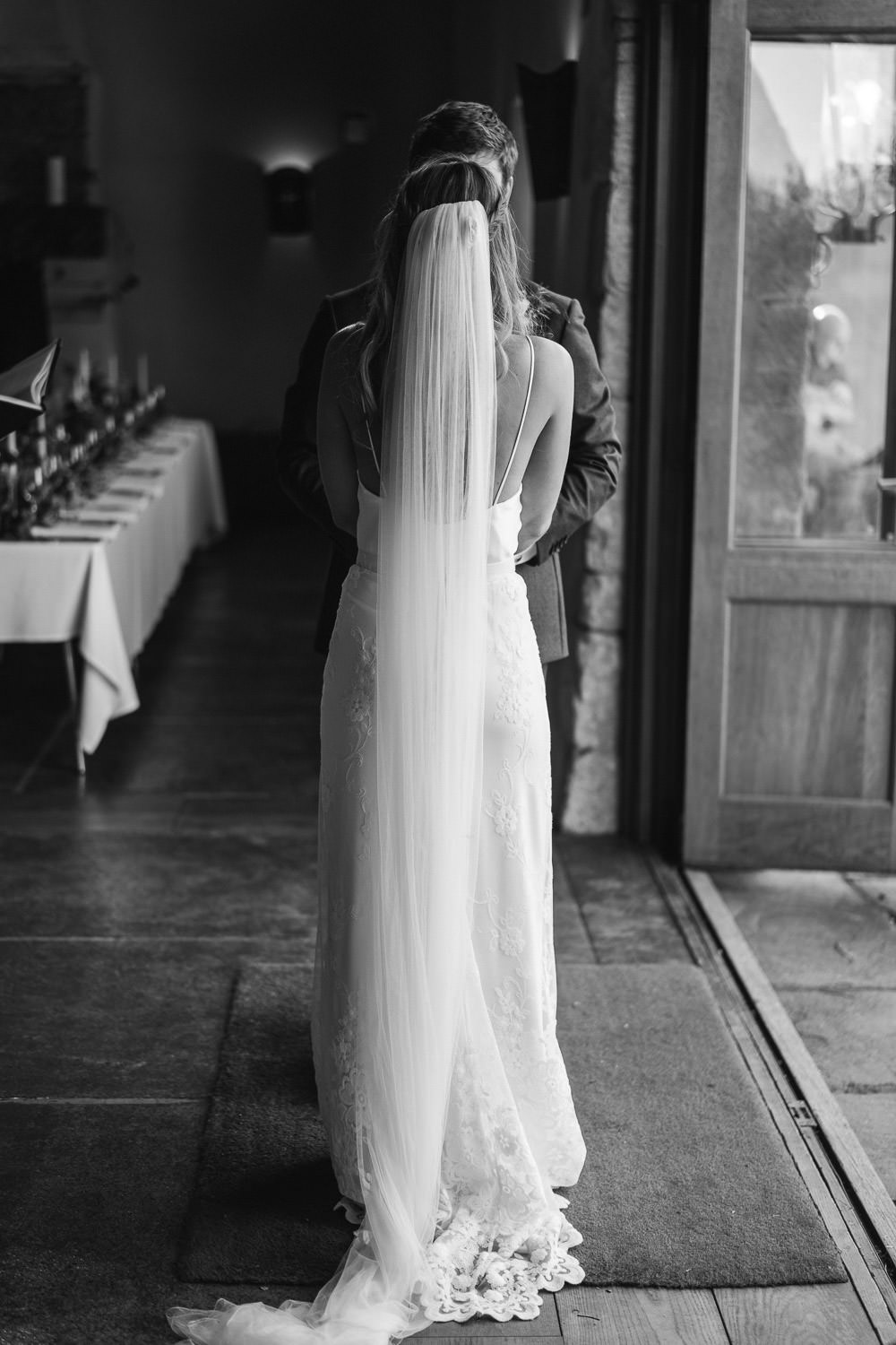 halfpenny london bridal gown in cotswolds wedding