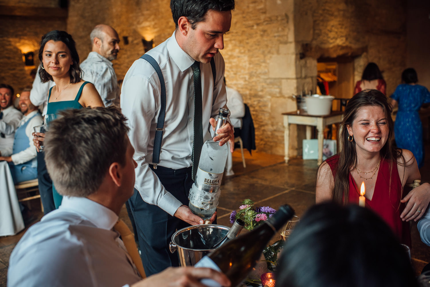 cocktail wedding drinks at oxleaze barn wedding
