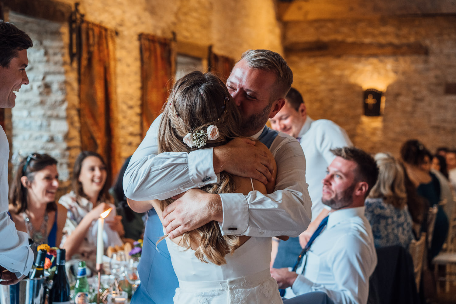 wedding speeches in oxleaze barn wedding