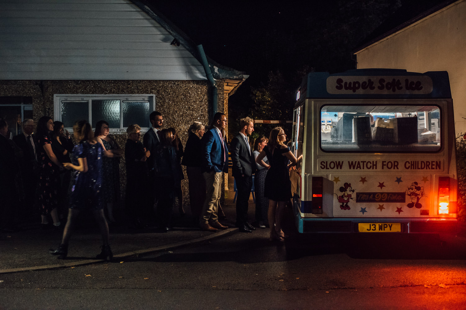 ice cream van wedding by documentary wedding photographer the shannons photography
