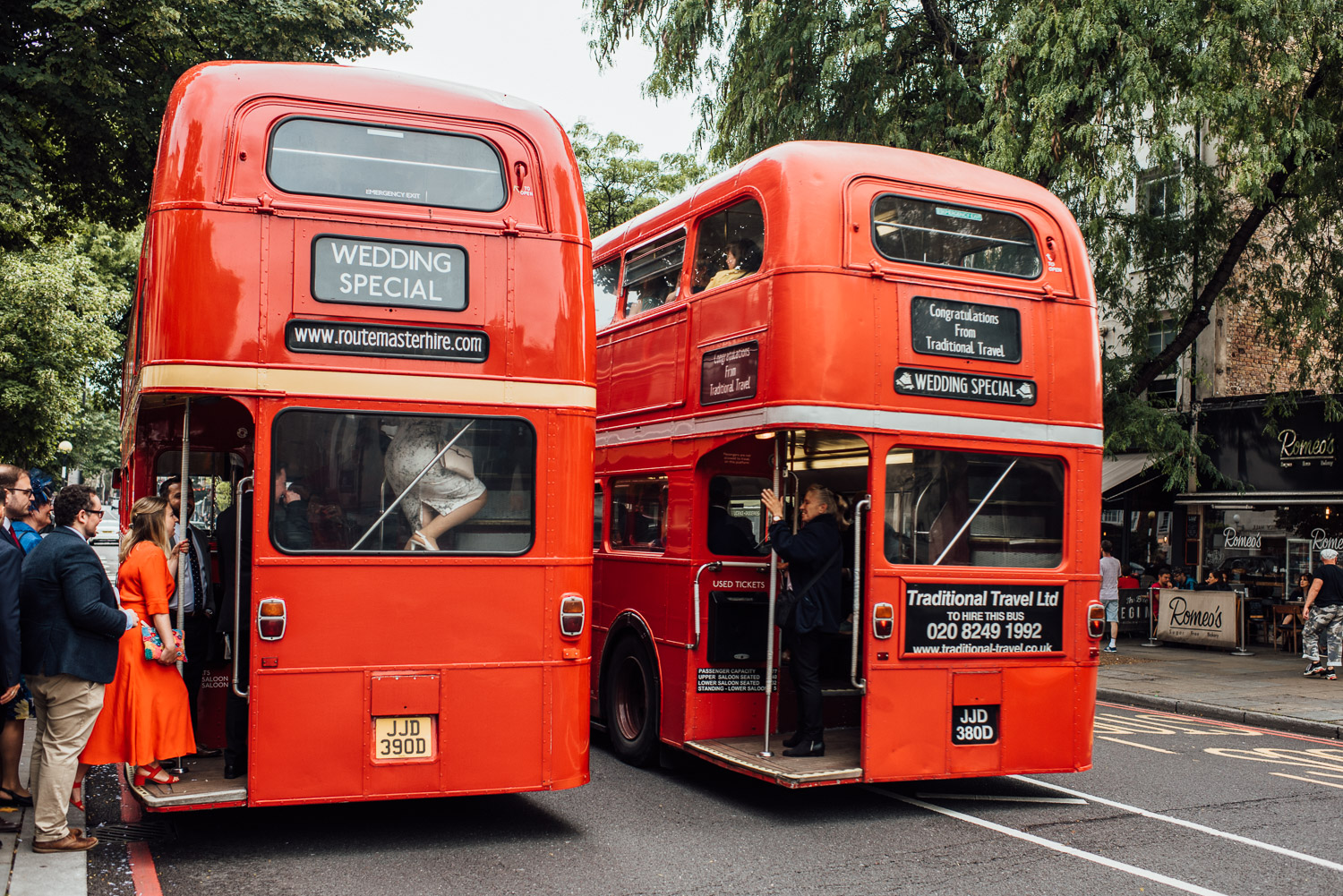 routemaster london bus wedding