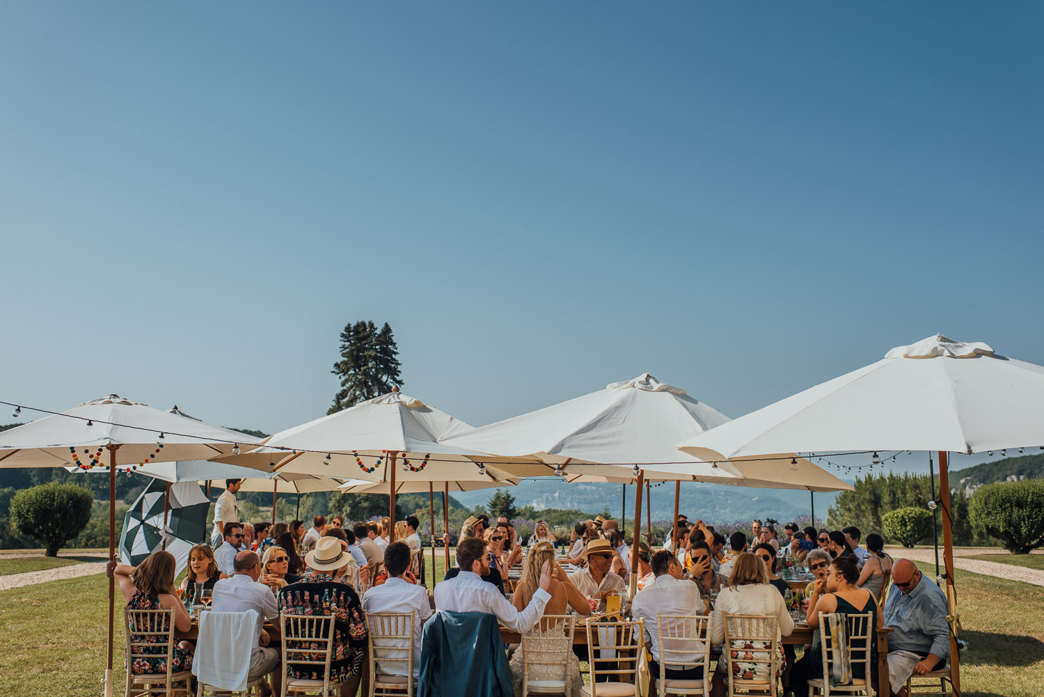 rustic outdoor french wedding