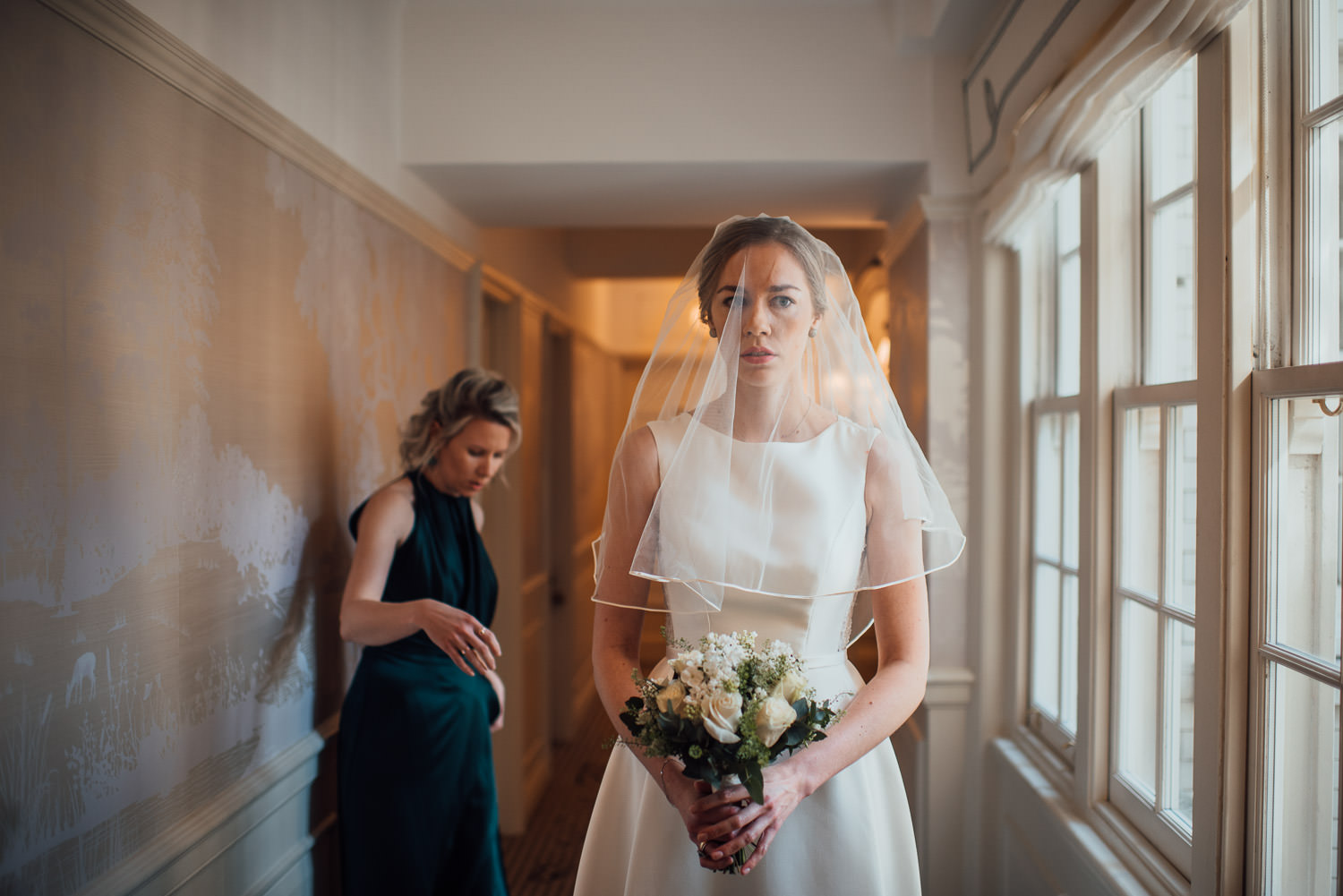 pronovias wedding dress in london lockdown wedding by the shannons photography