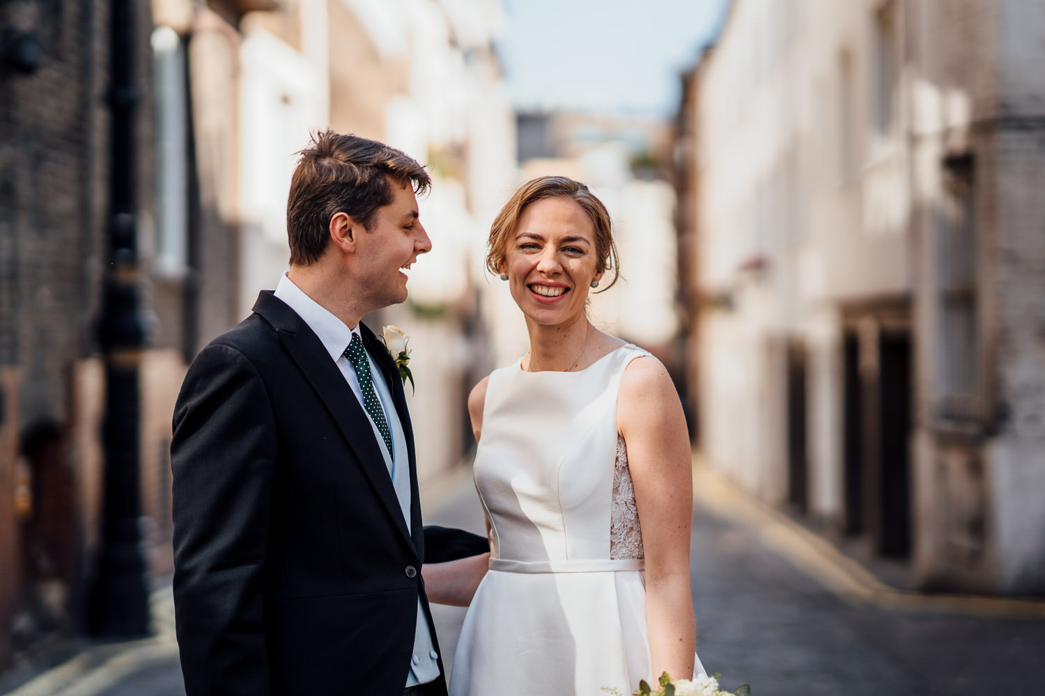 bridal portraits in london elopement wedding by the shannons photography