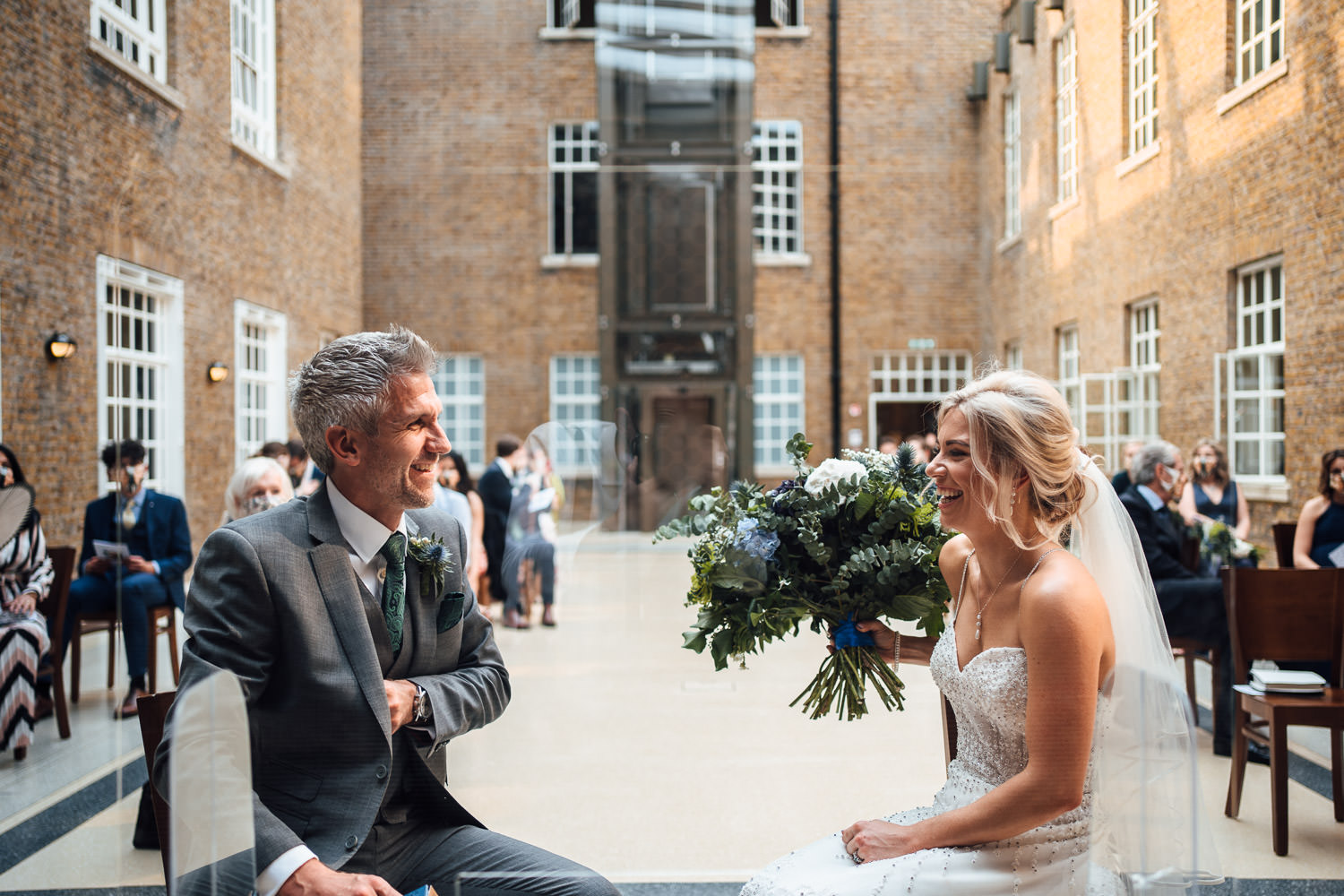hackney town hall wedding ceremony by london wedding photographer the shannons photography
