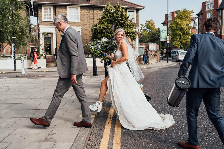 bride in kleinfield NY wedding dress