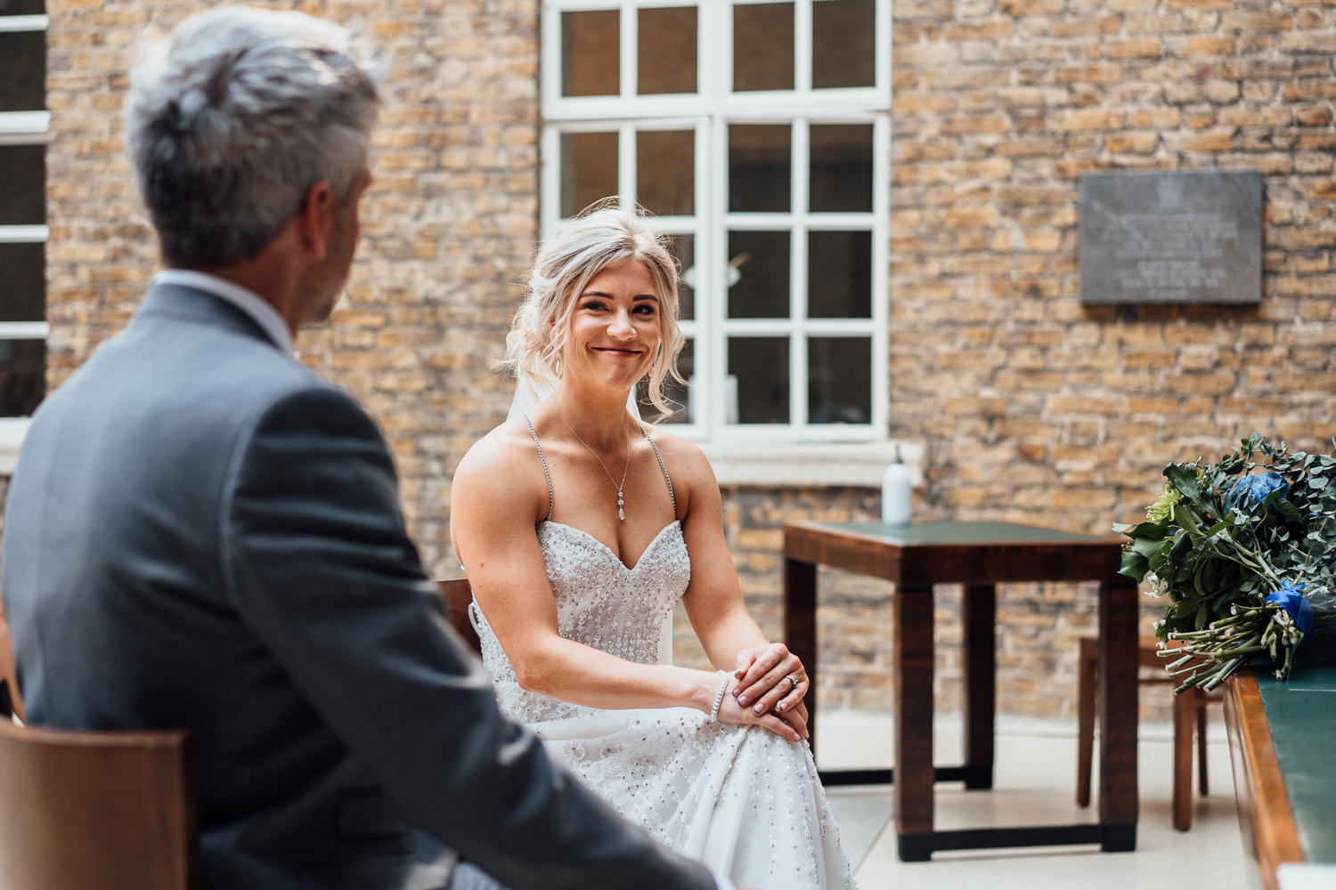 hackney town hall covid wedding ceremony by london wedding photographer the shannons photography