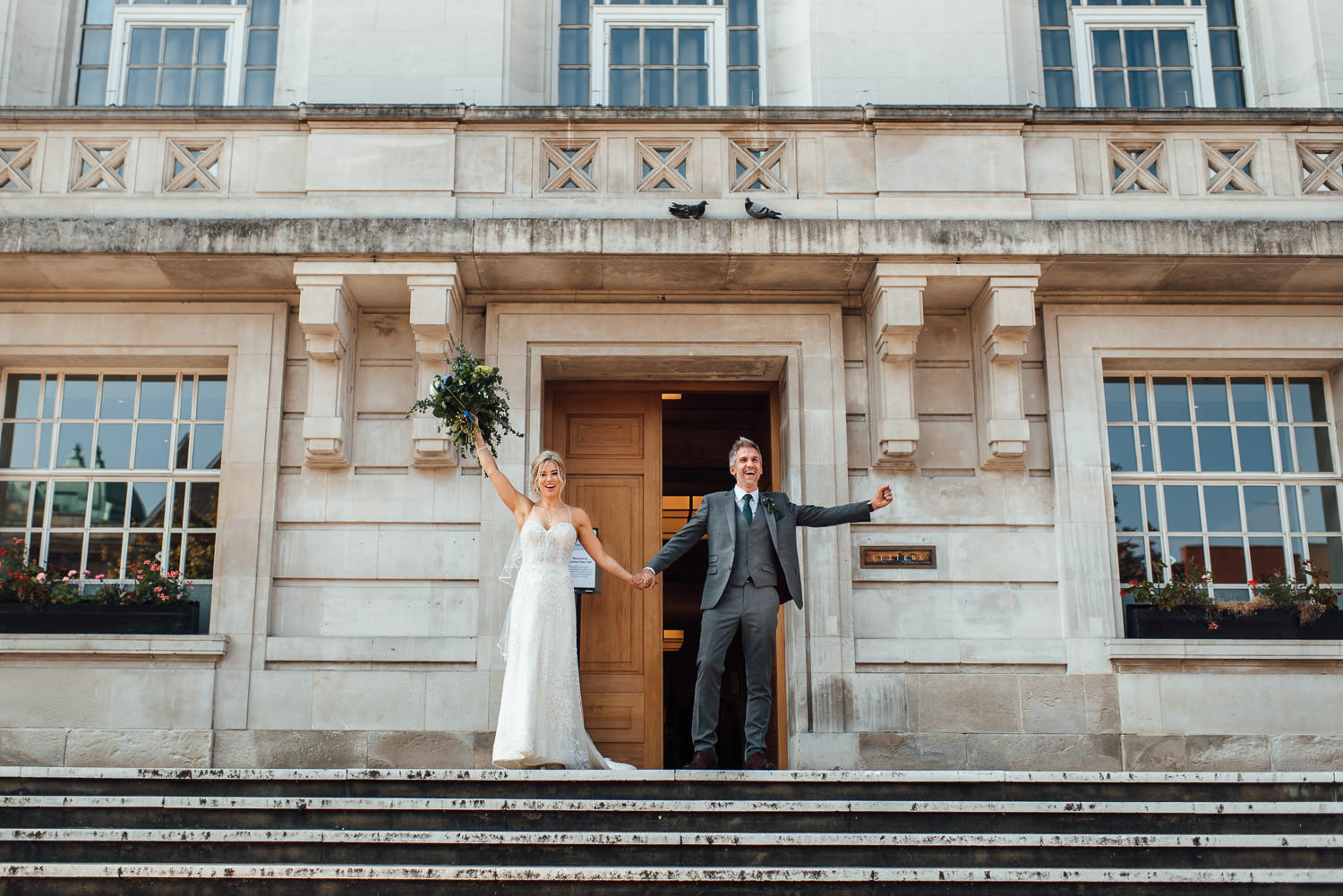 Hackney town hall wedding by creative london wedding photographer the shannons photography