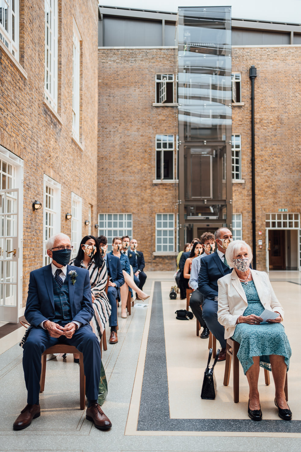 hackney town hall covid wedding by creative london wedding photographer the shannons photographer