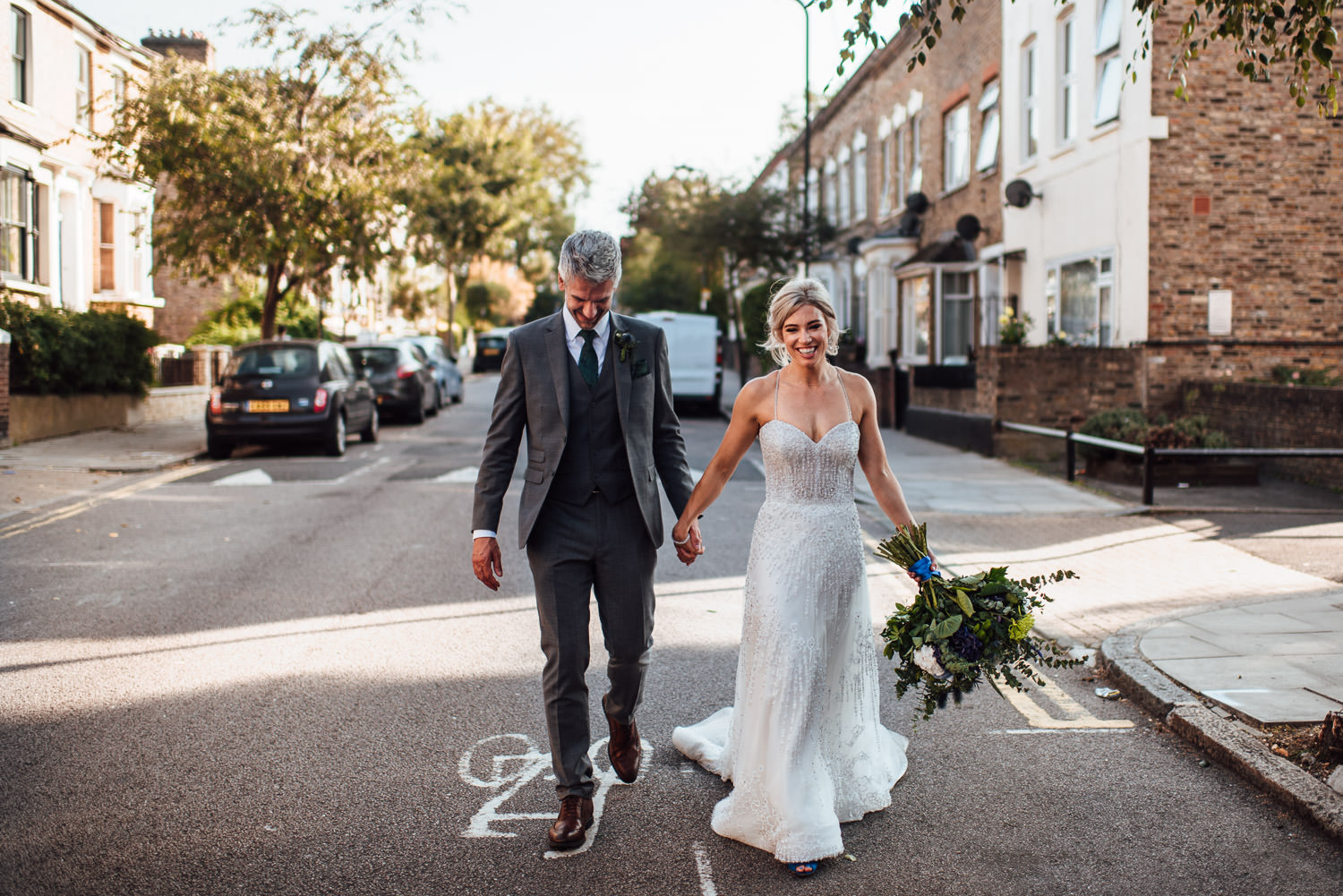 couples portraits in the roost dalston wedding