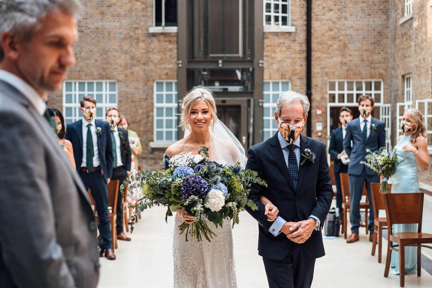 wedding ceremony in hackney town hall by creative london wedding photographer the shannons photography