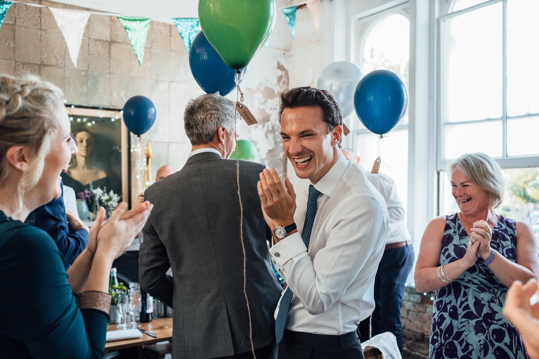 balloon themed wedding reception