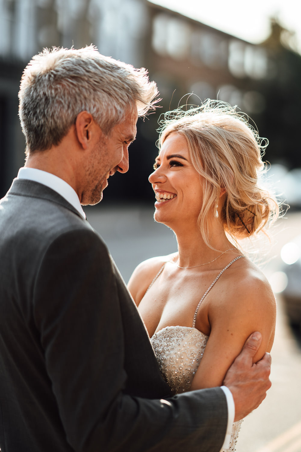 couples portraits in dalston pub wedding by london wedding photographer the shannons photography