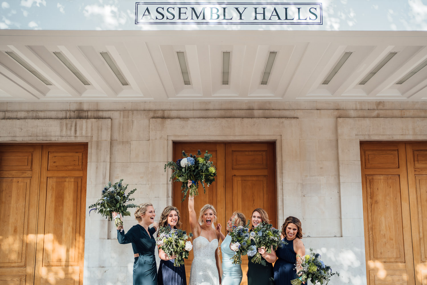 cool bride in hackney town hall wedding by the shannons photography