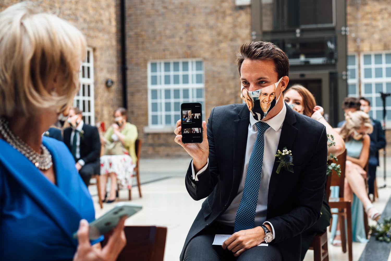 covid wedding ceremony photographer