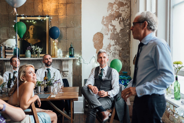 wedding speeches in the roost pub dalston wedding