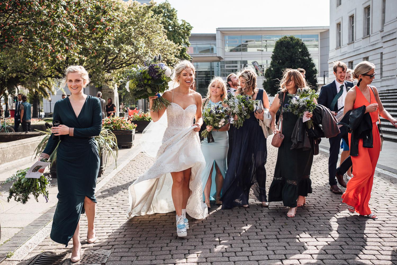 bohemian wedding at hackney town hall