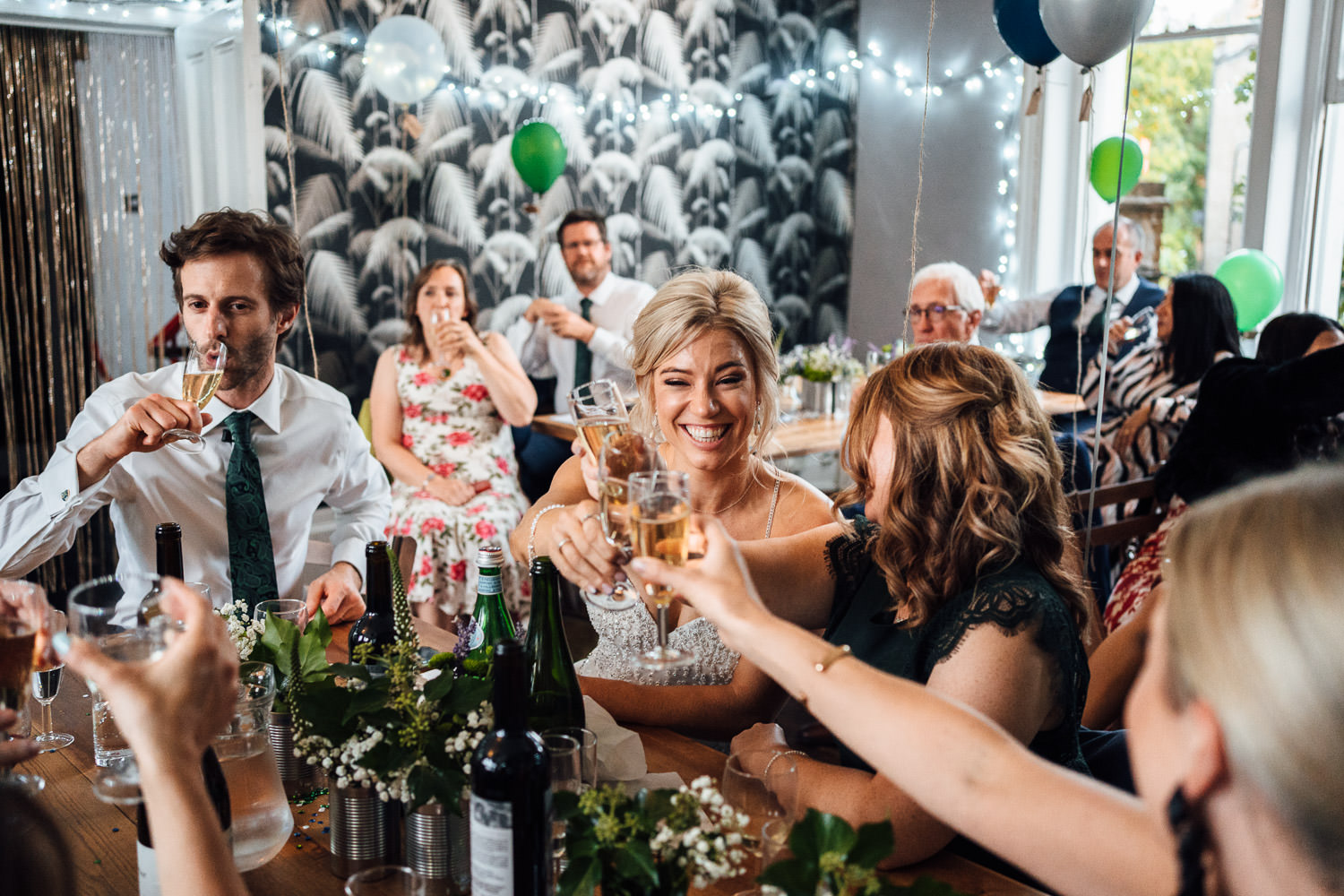 covid mini wedding at the roost pub dalston by creative london wedding photographer the shannons photography
