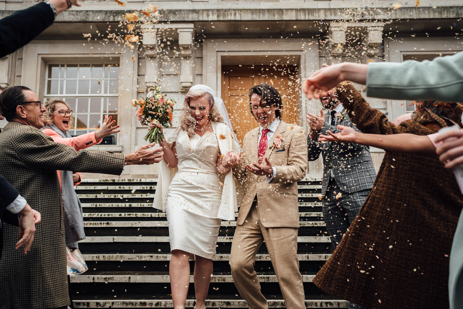 hackney town hall micro wedding by the shannons photography