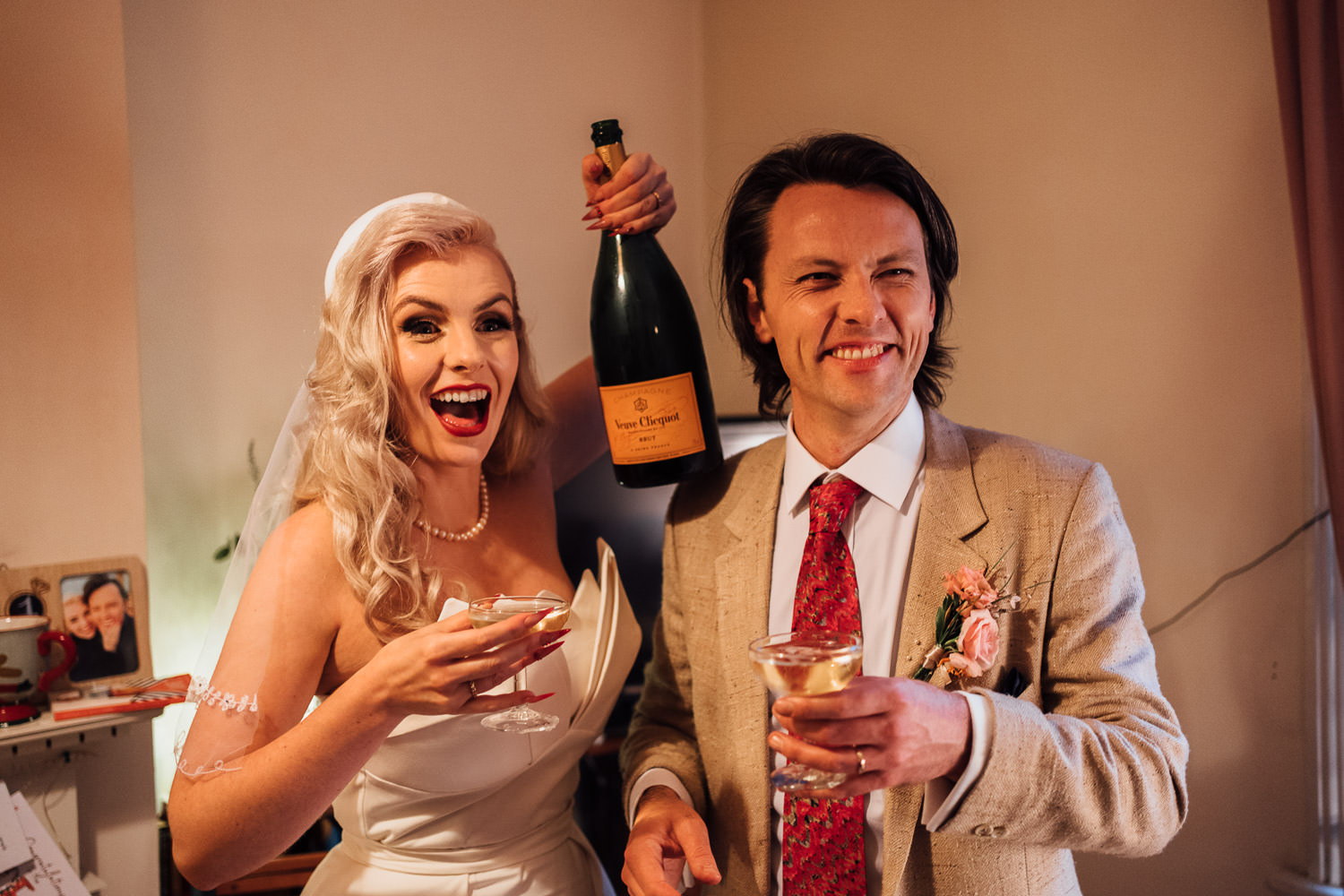champagne celebration in london micro wedding