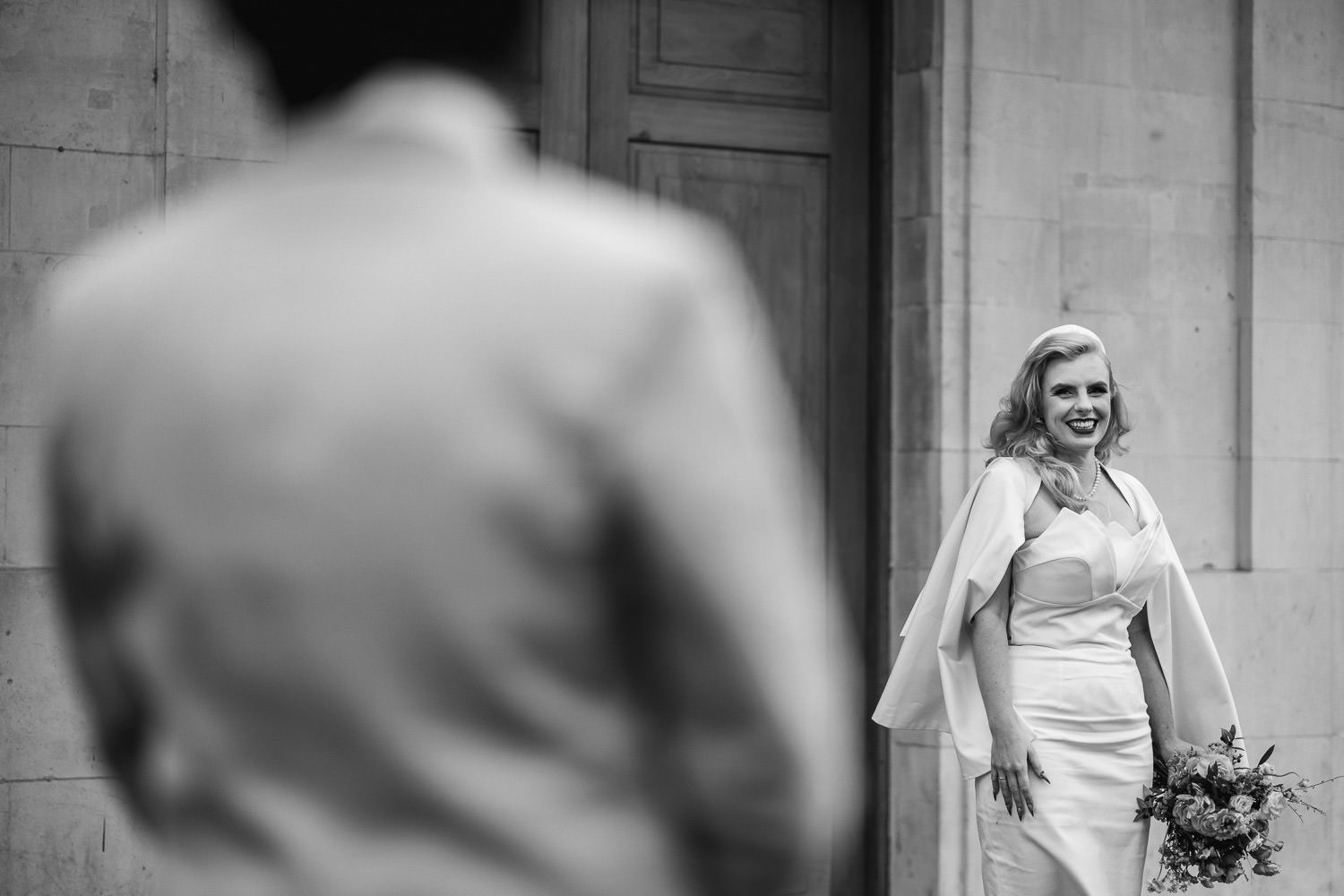 retro bridal portraits