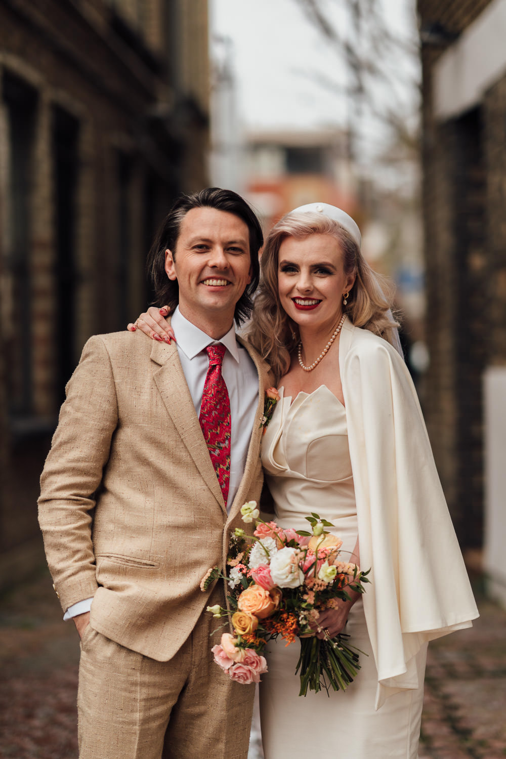hackney town hall wedding couples portraits