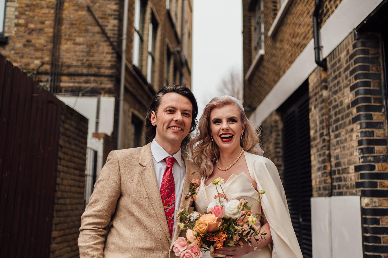 hackney town hall elopement micro wedding