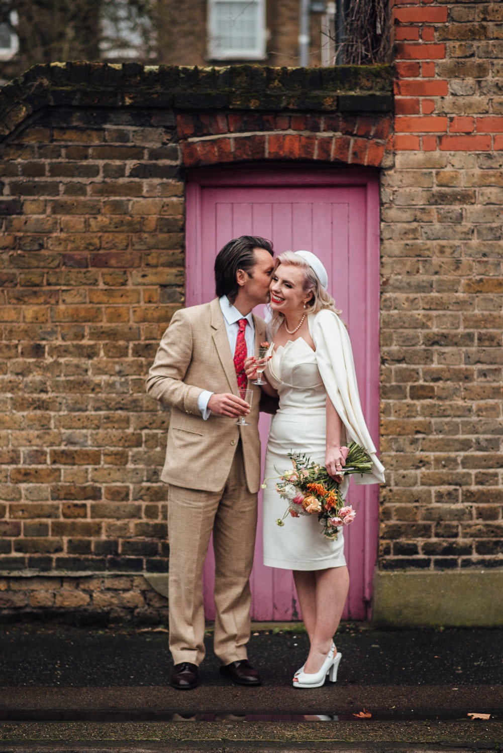 chic retro east london bride